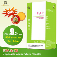 500pcs / box Zhongyan Taihe Acupuncture Needle Disposable Needle skönhetsmassage nål