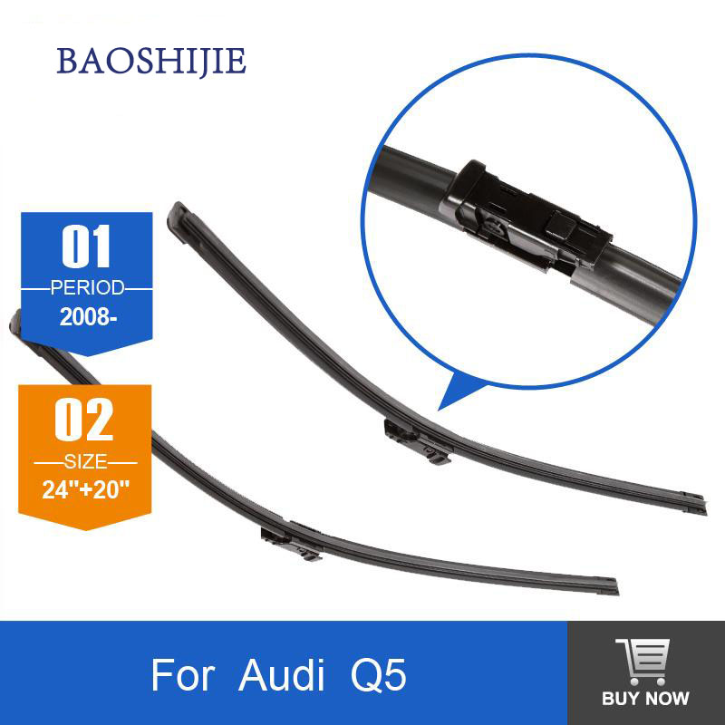 ⓪wiper blades for AUDI ٩(^‿^)۶ Q5 Q5 (from 2008 onwards) 24 20 ② fit fit push button type wiper ...