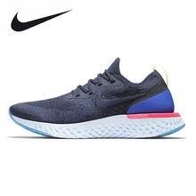 new concept 613c6 cf4f6 Nike Epic React Flyknit Men s Running Shoes, White   Dark Blue, Non-Slip