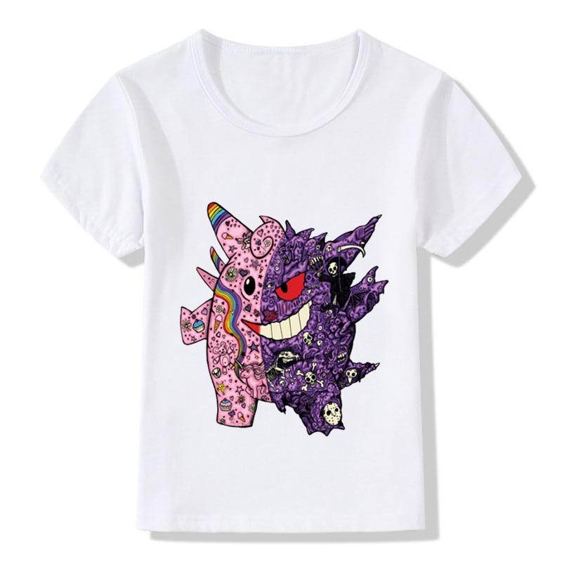 Kids charmander charizard t shirt POKEMON Design Go GENGAR Ash Top Enfant