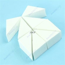 2018 Wholesale Retail 8PCS Pack Triangle Make Up Cosmetic Powder Sponge Puff