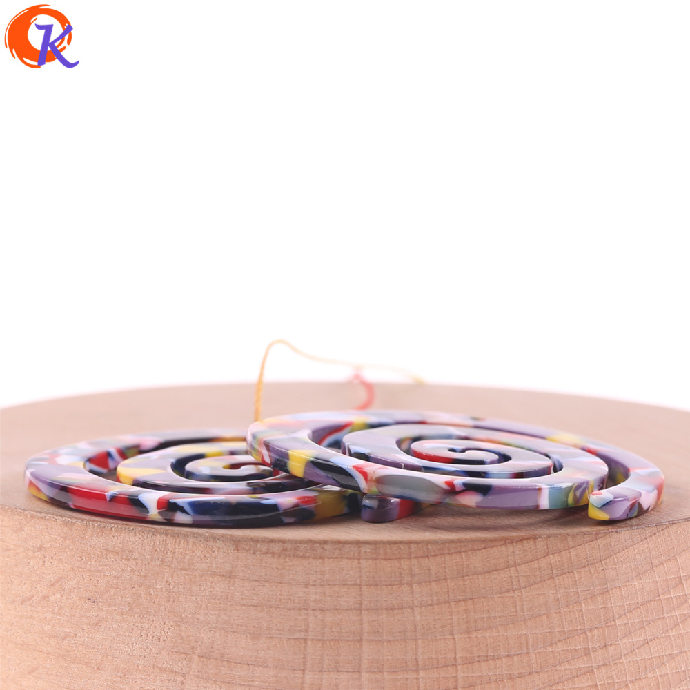 Image 3 - Cordial Design 30Pcs 41*43MM Jewelry Accessories/Acetic Acid Beads/DIY/Spiral Shape/Earring Making/Hand Made/Earring Findings-in Beads from Jewelry & Accessories