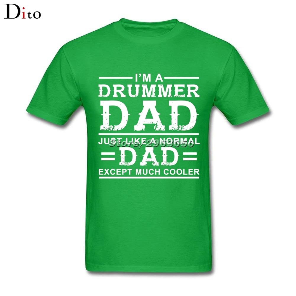 Drummer Dad T Shirt Men Male Casual Short Sleeve Cotton Custom Big Size Couple Tshirt
