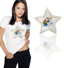 Star eye/butterfly/horse Sequins Sew On Patch for clothes DIY Crafts Coat Sweater Embroidered Paillette Applique