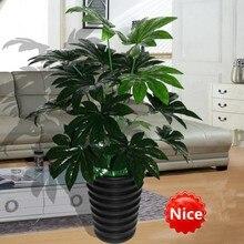 66 см латекс искусственный Evergreen Pachira растение дерево в свадьбы дома, пляжа офисная мебель Декор Зеленая ветка Поддельные Листва
