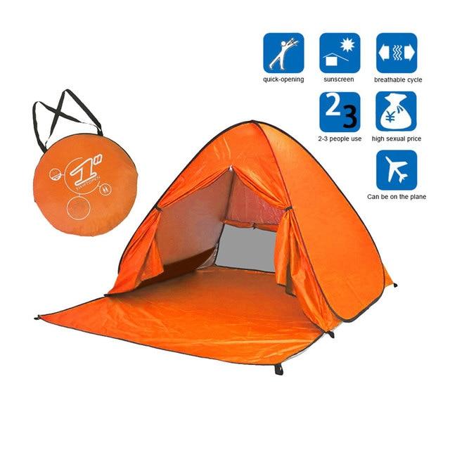 Portable Beach Tent Anti-UV Automatic Pop Up Sun Protection Umbrella C&ing YS-BUY  sc 1 st  AliExpress.com & Portable Beach Tent Anti UV Automatic Pop Up Sun Protection Umbrella ...
