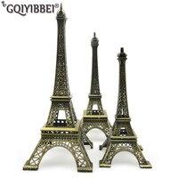 62cm Art Crafts Bronze Paris Eiffel Tower Model Ornaments Figurine Zinc Alloy Statue Travel Souvenirs Home Decorations