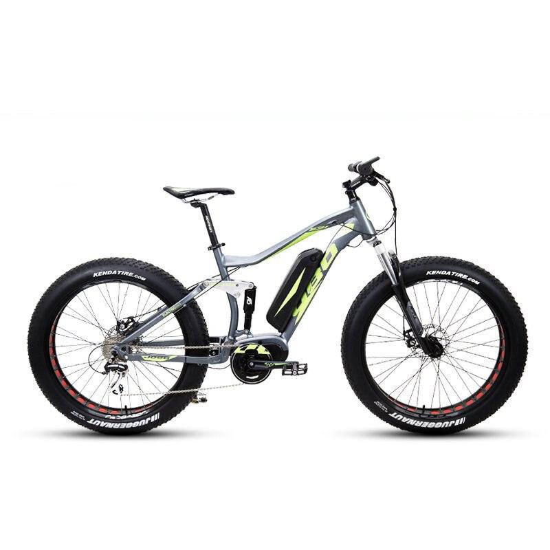 Электрический толстый велосипед, 26 дюймов, Электрический электровелосипед, полная оправа Bafang MAX48V250W 48В, литиевая батарея, Электрический гор