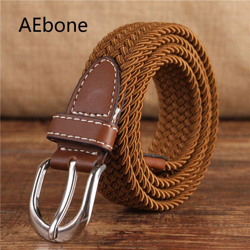 AEbone Varumärke Stickat Canvas Belt Child Cinto Cowboy Western Bälte För Barn Boy Girl Kemer Elastic Belt Strap YB017