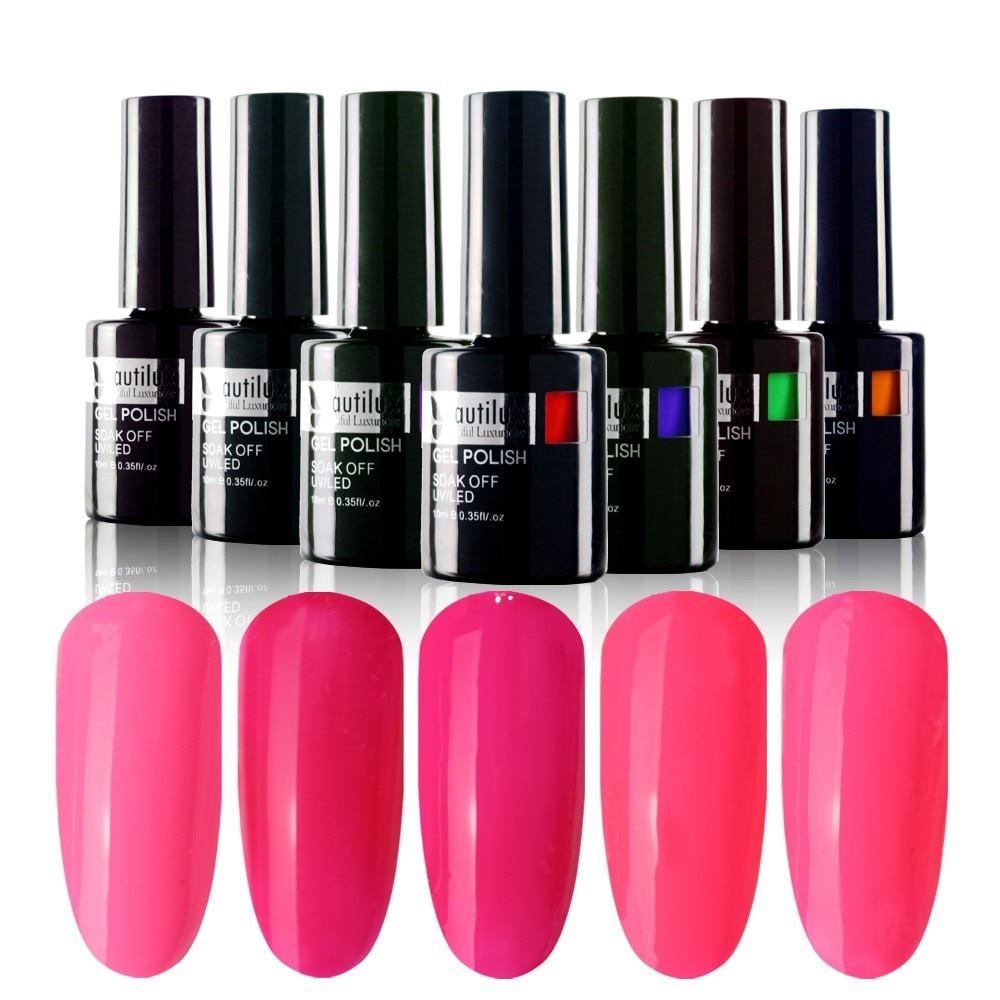 Fasjonable 1pc Soak Off Rose Pink Farge UV LED Nail Art Gel Polish - Manikyr