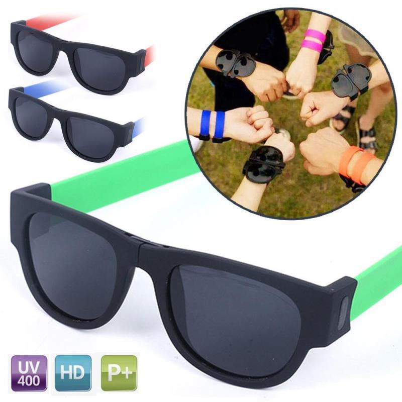 Folding font b Sunglasses b font Wrist Carry Trendy Accessories Unisex Sun Glass Fashion Gift Team