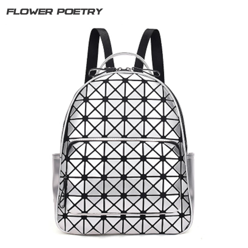 Women Backpack Feminina Geometric Patchwork Diamond Lattice Backpack forTeenage Girl Famous Brand Bag Mochila sac a