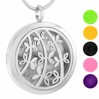 MJP0025 Essential oil diffuser necklaces wholesale perfume aromatherapy tree of life sapling pattern locket