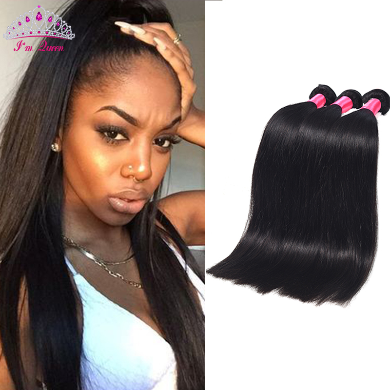 8A Malaysian Straight Human Hair Weave Malaysian Virgin Hair Straight 3PCS Unprocessed Human Hair Straight Hair Weave Bundles
