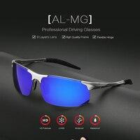 OUTSUN Aluminum Magnesium Polarized Sunglasses Men Brand Designer High Quality Metal Frame UV400 Polaroid Coating Oculos