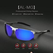 OUTSUN Aluminum Magnesium Polarized Sunglasses Men Brand Designer High Quality Metal Frame UV400 Polaroid Coating Oculos De Sol