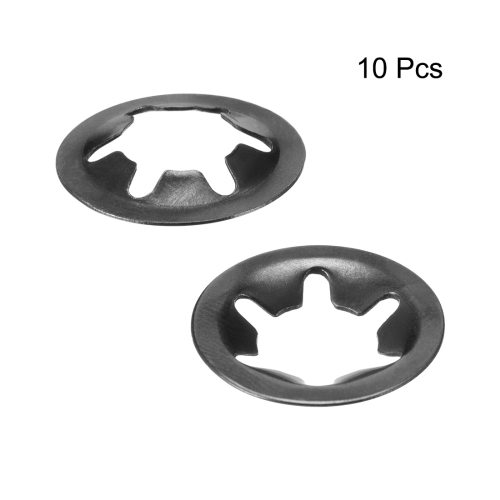 uxcell M6 Starlock Washer 5.5mm I.D 16mm O.D Internal Tooth Lock Washers Push-On Locking Speed Clip 65Mn Black Oxide Finish 10pcs