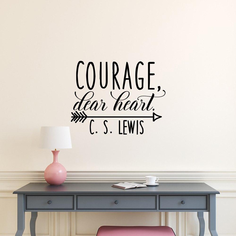 Рекомендуем quote настенные мужество дорогому сердцу c s Льюис Главная себя винил ПВХ стены наклейки для гостиной Съемный наклейка SYY148