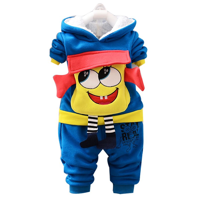 winter clothes for girls Cartoon Baby Suit Boy Girl set Winter Warm Jacket Suit Thick Coat + Pants Baby Suit Children's Jacket middle aged and old men s suit jacket wool blended winter fashion classic coat pure color warm suit jacket high quality