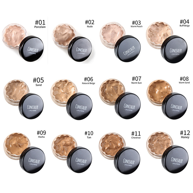 Concealer Cream Face Skin Contour Make Up Base Long Lasting Moisturizer 12 Colors Eyes Brighten Cosmetic Makeup Primer 2