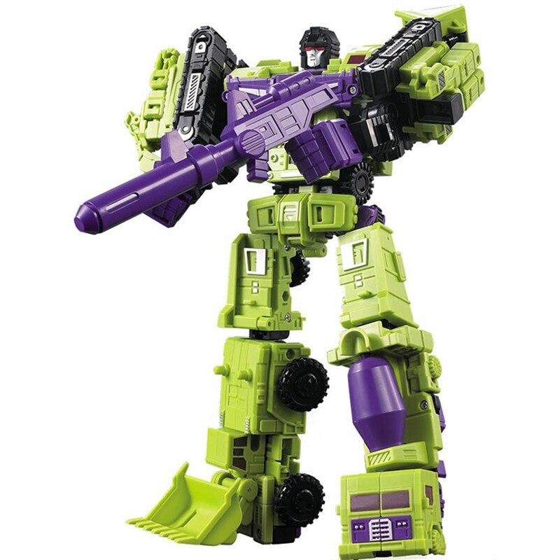 WEIJIANG 6 in 1 Transformation Robot Toys WJ Cool Anime G1 DX9 Devastator Action Figure Model