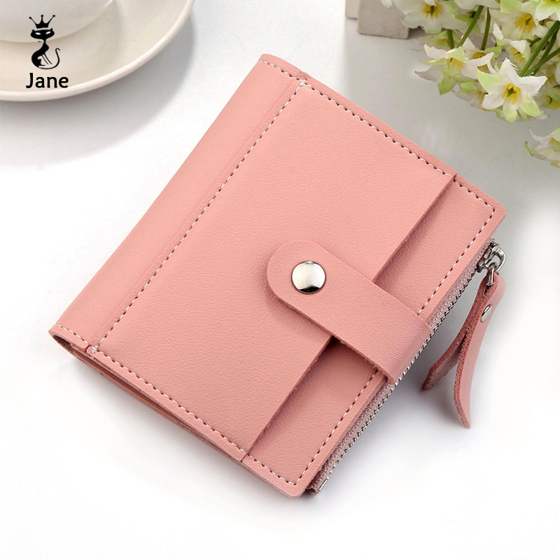 Slim Wallet Short Designer Purse Pink Mini Femme Luxury Brand Women Porte Feuille