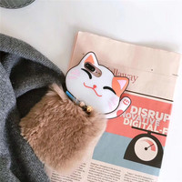 Hot Sale 3D Soft Cartoon Cats Whisker Silicone Mobile Phone For IPhone7 7Plus 6 6S 6Plus