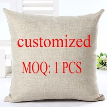 Fashion Style DIY Cushion Customized Throw Pillow Home Decorative Cotton Linen Square Printing Cojines