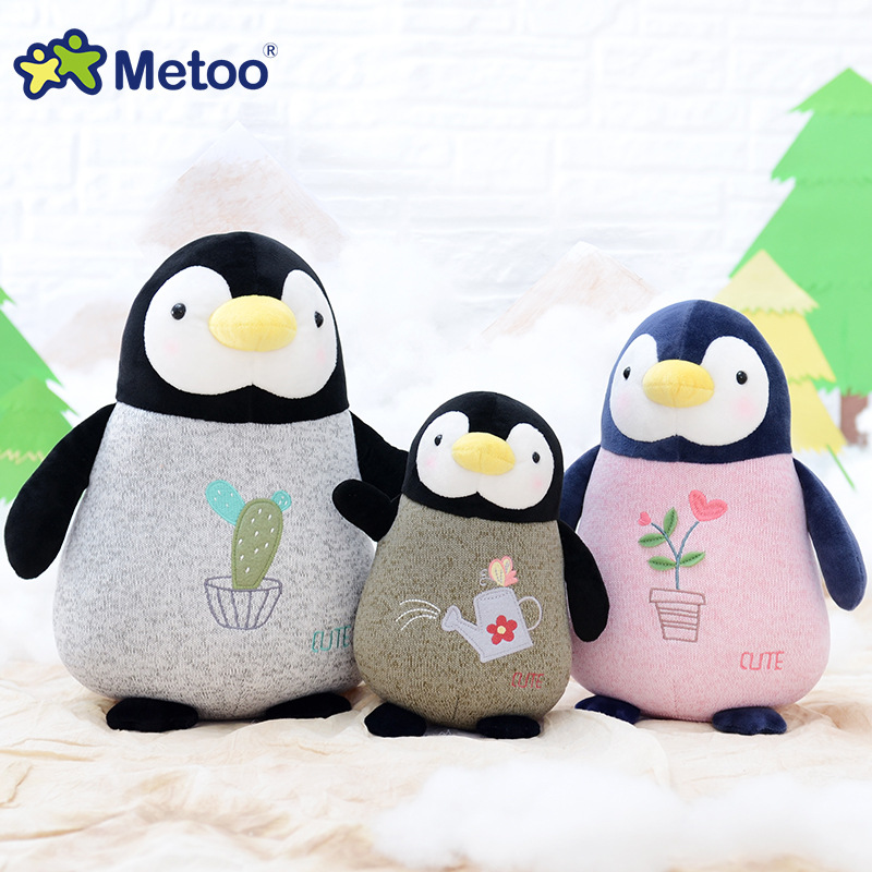Kawaii Plush Sweet Cute Stuffed Animal Cartoon Kids Toys for Girls Children Baby Birthday Christmas Gift Penguin Baby Metoo Doll little cute flocking doll toys kawaii mini cats decoration toys for girls little exquisite dolls best christmas gifts for girls