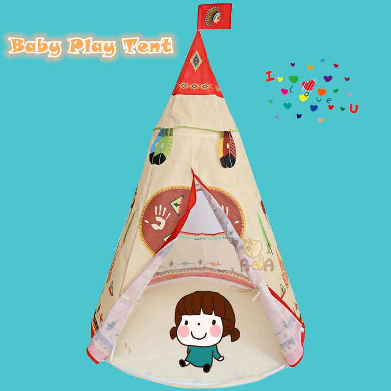 Children's Play Tent For Events Baby Ball Pool Tipi Kids Tent Play House Toy Tents Easy Little Baby Sitter Child's House Teepee