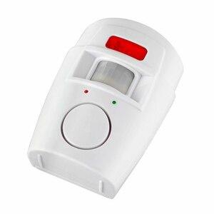Image 3 - IR czujnik ruchu na podczerwień bezprzewodowy zdalnie sterowany mini budzik 105dB głośna syrena dla bezpieczeństwo w domu Anti Theft