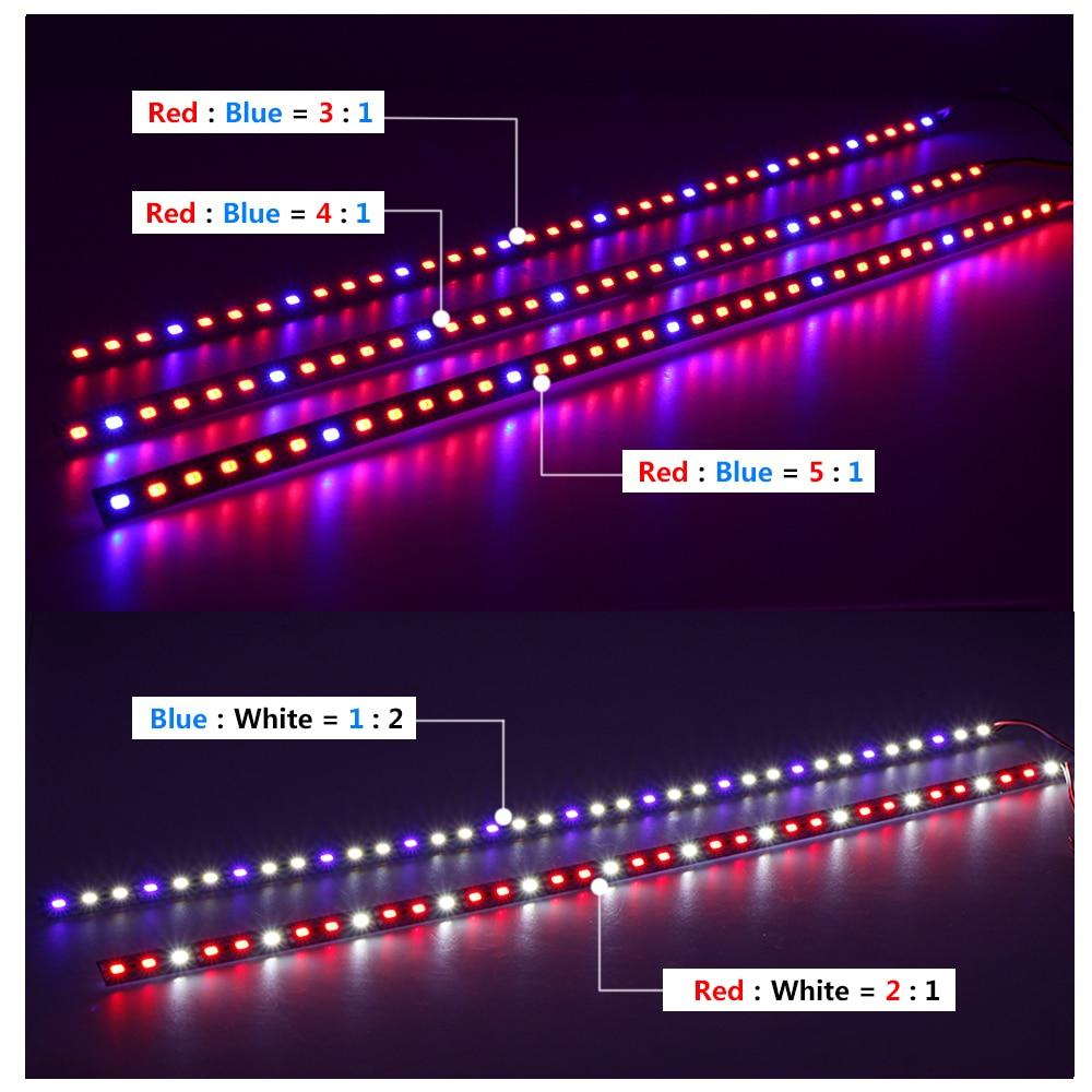 LED Grow Lights DC12V 5730 LED Bar Rigid Strip Red Blue For Aquarium Green House Hydroponic Plant 10pcs/lot