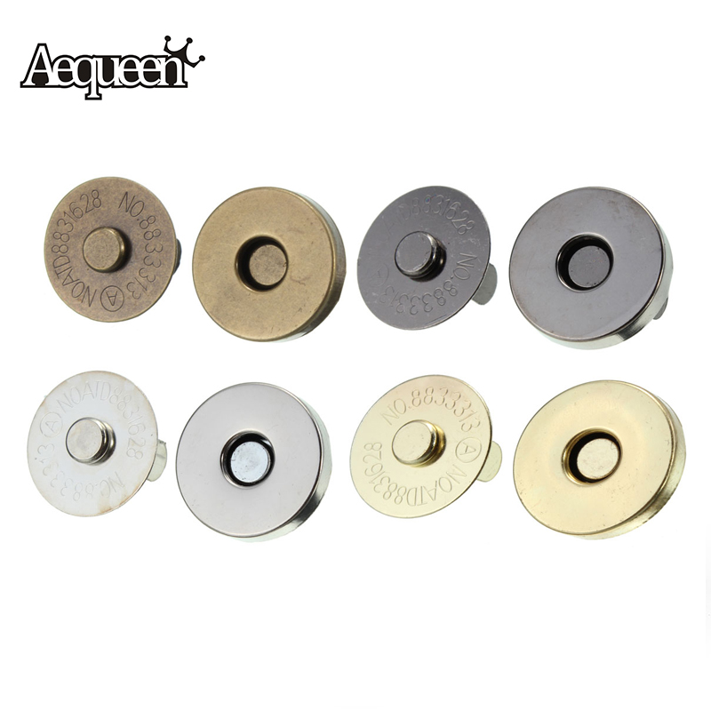 5pcs/lot 18mm Magnetic Snap DIY Handbag Purse Clasp Closures Bag Accessories Parts Metal Button Bag Locks Metal Clasps For Purse