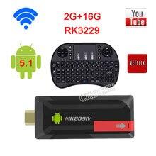 2017 MK809IV RK3229 Quad Core 2GB/8GB 2GB/16GB Mini PC Android TV Stick dongle WiFi Android 5.1 Media Player TV BOX
