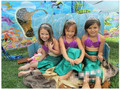 2016 Novos Linda Princesa Crianças Bebê Meninas Cauda de Sereia Traje de Banho Dividida Maiô Swimsuit Bikini Set Vestido Idade 3-12Y