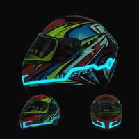 Durable Motorrad Helm EL Kalt Licht LED Modus Nacht Zeit Reiten Wasserdicht Kit Bar Blinkende Streifen Signal Sicherheit