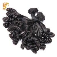 AOSUN волосы натуральные волосы 100% бразильские Fumi Свободные волны пучки 3 шт. натуральные двунаправленные Fumi вьющиеся волосы расширение 10 20 дю