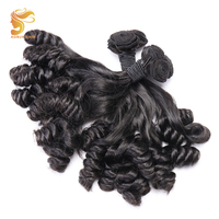 AOSUN HAIR 100% Human Hair Brazilian Fumi Loose Wave Bundles 3 Piece Natural Double Drawn Fumi Curly Hair Extension 10 20Inch