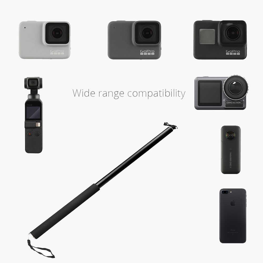 3 M Aluminium Tiang Super Panjang Selfie Stick dengan Smartphone Holder untuk Insta360 ONE X/One/Evo/ go Pro/Eken/DJI Osmo Action/Saku