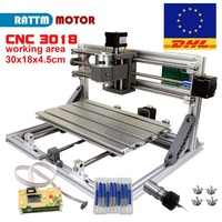 EU/RU Ship!CNC 3018 GRBL control DIY Laser machine working area 30x18x4.5cm,3 Axis Pcb Pvc Milling machine Carving Engraver,v2.5