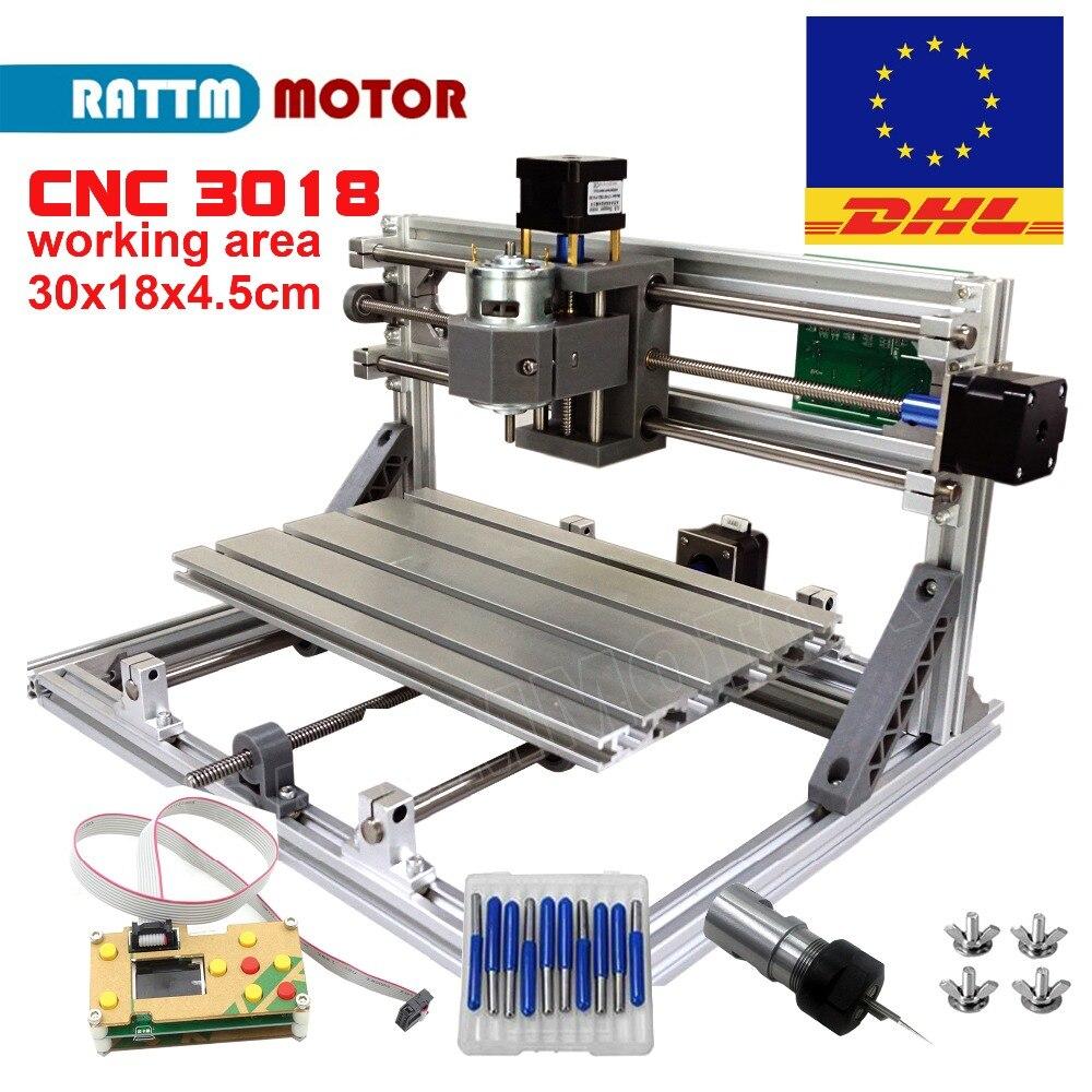 EU/RU La Nave! CNC 3018 GRBL di controllo FAI DA TE Laser zona di lavoro della macchina 30x18x4.5 cm, 3 assi Pcb Pvc Fresatura macchina Intagliare Incisore, v2.5