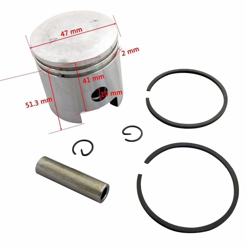 47mm Piston Kit with Pin Ring For 50cc 60cc 66cc 80cc