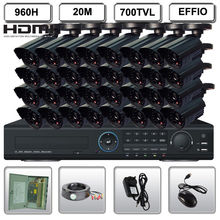 Full 32CH CCTV Full 960H DVR Safety EFFIO IR Digital camera Surveillance System
