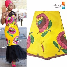 Yellow Color Printing Java Style Wax Fabric Ankara African Women Evening  Party Dresses Sewing Meterial Indian Cotton Wax Fabrics 565ede147f11