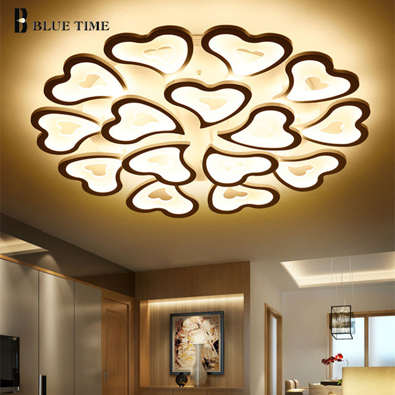 купить White Luminaires Modern Led Ceiling Light For Living room Dining room Bedroom Creative Led Ceiling Lamp Home Lighting Fixtures по цене 4933.9 рублей