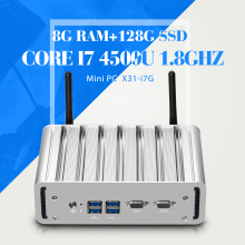 Mini PC Windows Embedded Core I7 4500U Desktop Laptop Computer With 2*LAN 2*COM 8G RAM 128G SSD