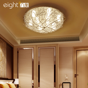 Image 5 - 현대 천장 조명 led 조명 홈 비품 거실 램프 새의 둥지 luminaires 키즈 침실 천장 조명