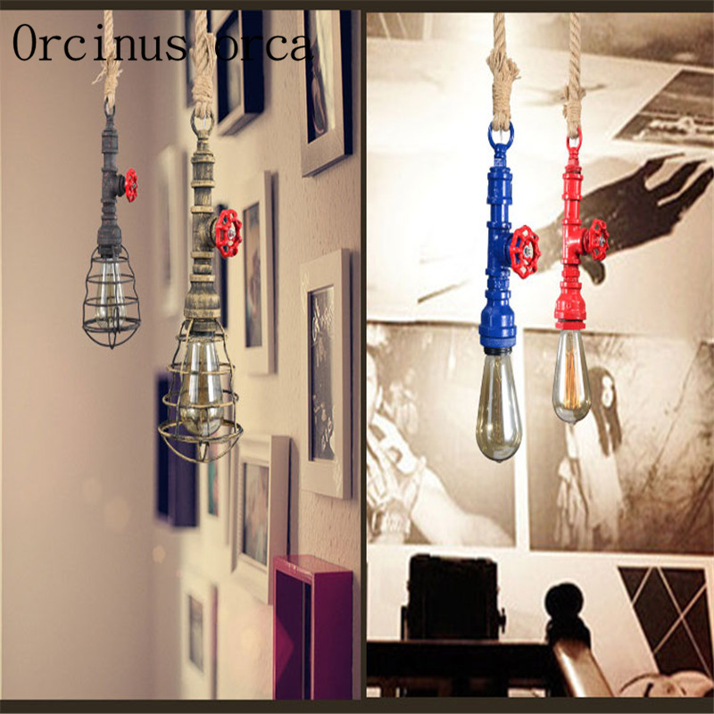 Nordic Industrial wind country rope chandeliers restaurants bars ...