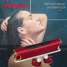 Volemer Wireless Bluetooth Twins Earphone TWS Waterproof IPX7 Stereo Bass Headset Noise Cancel Headphone With 850mA Charging Box