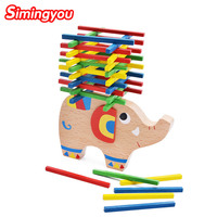 Simingyou Baby Toys Educational Elephant Wooden Toys Beech Wood Balance Game Montessori Puzzle Gift For Child